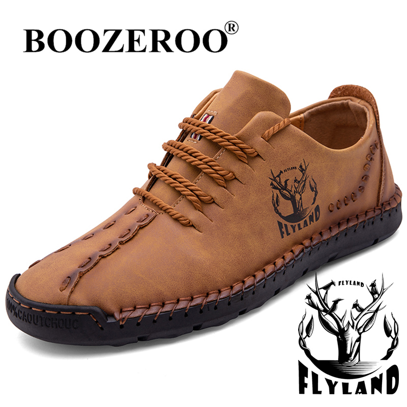 2021 New Fashion Men Shoes Casual Leather Shoes Outdoor Waterproof Hiking Shoes PLUS Size 48