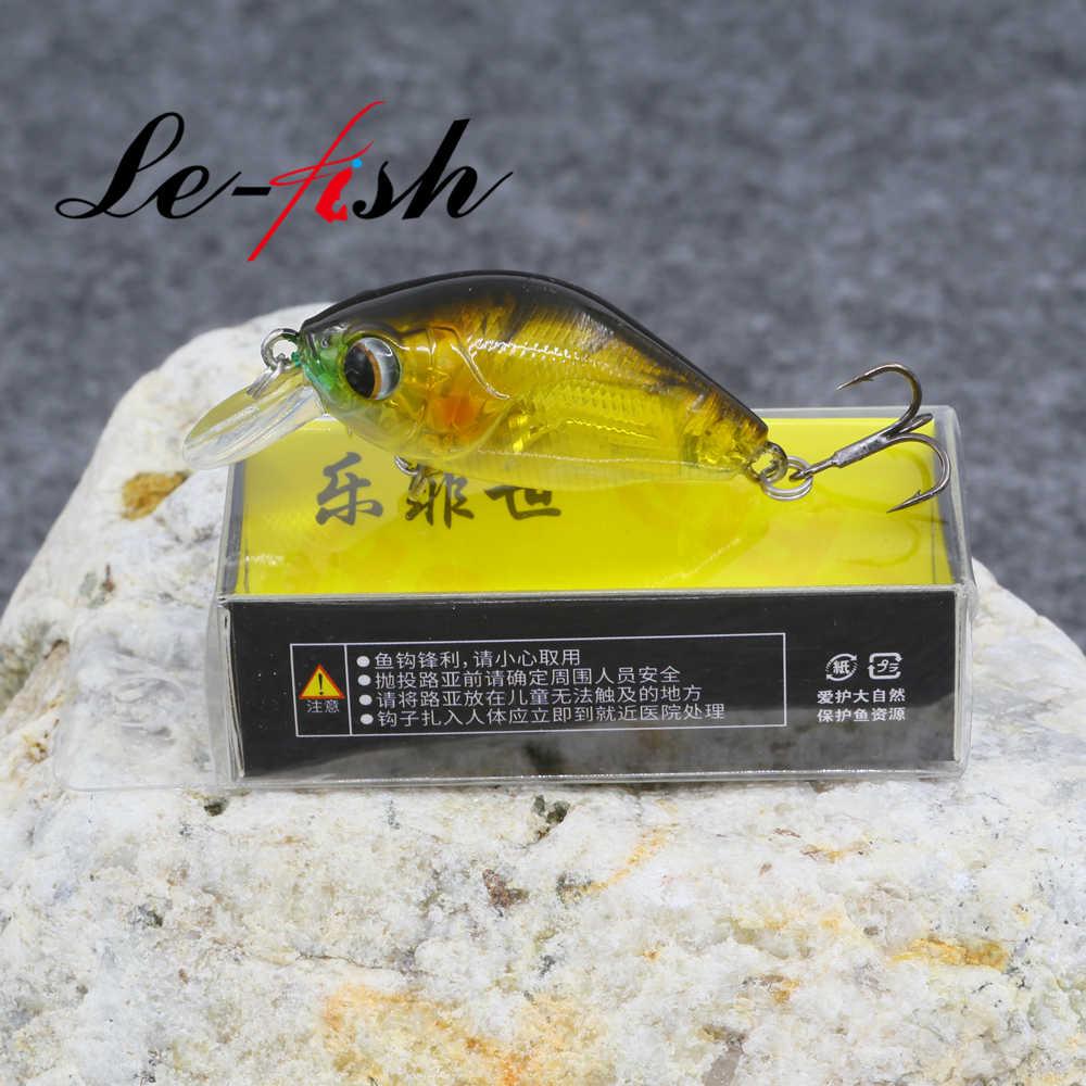 Le ปลา 50 มม.6.9G Crank เหยื่อ Minnow Fishing Lure Hard เหยื่อ TREBLE Hooks Wobbler ลอย Pesca