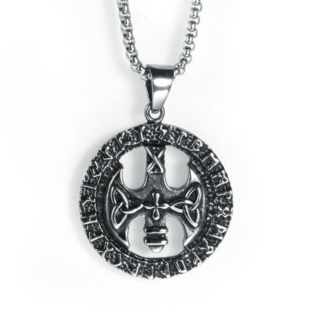 STAINLESS STEEL NORSE VIKING RUNE NECKLACE