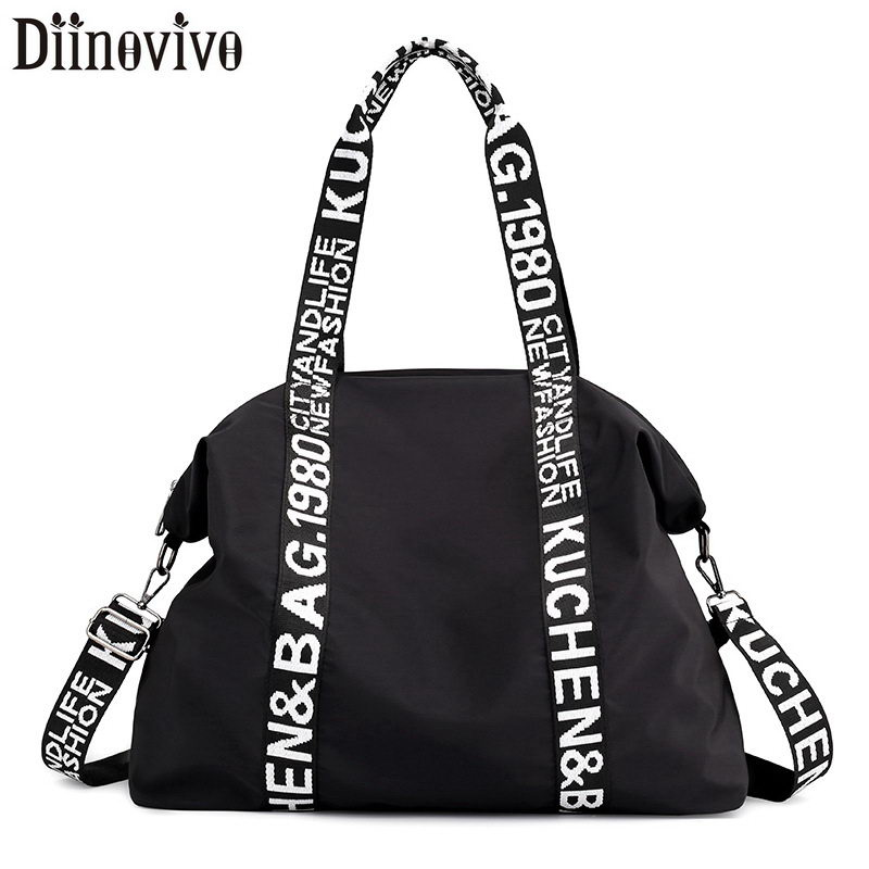 DIINOVIVO Large Capacity Women Bag Nylon Travel Bag Casual Women Handbags Totes Bag Ladies Shoulder Bag Female Bags WHDV1243| | - AliExpress