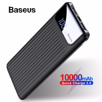 Baseus 10000 mah carga rápida 3.0 usb power bank para iphone x 8 7 6 samsung s7 edg xiaomi powerbank carregador de bateria qc3.0