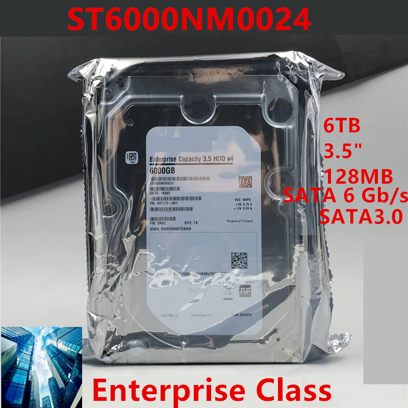 """New HDD For Seagate Brand 6TB 3.5"""" SATA 6 Gb/s 128MB 7200RPM For Internal Hard Disk For Enterprise Class HDD For ST6000NM0024 1"""