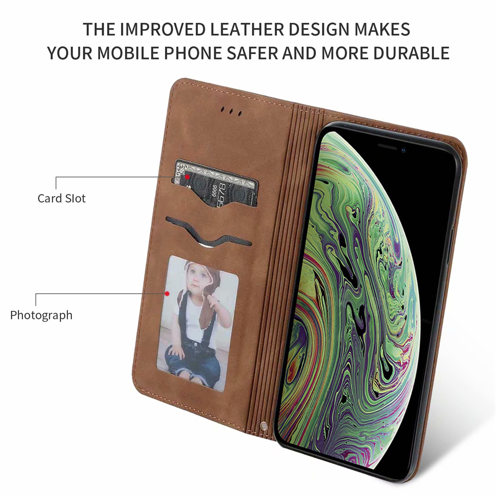 Luxury Leather Flip Wallet Case for iPhone 11/11 Pro/11 Pro Max 8