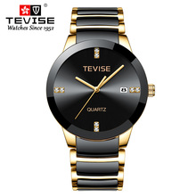 TEVISE Luxury Famous Top Brand Men Womens Watches