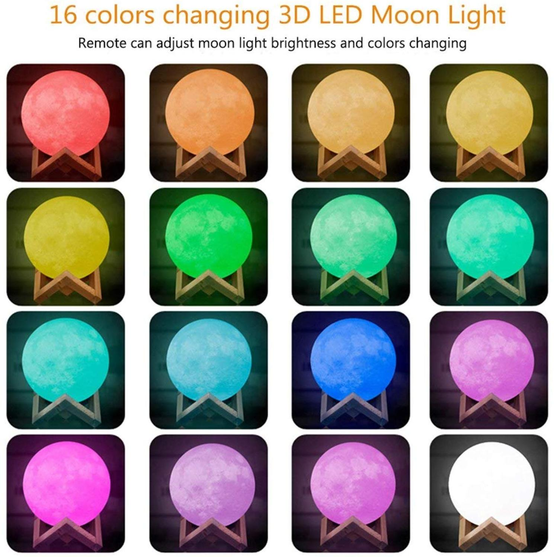 Moon Planetarium Lamp USB 3D Light Fixtures For Kids Bedroom Decoration 5