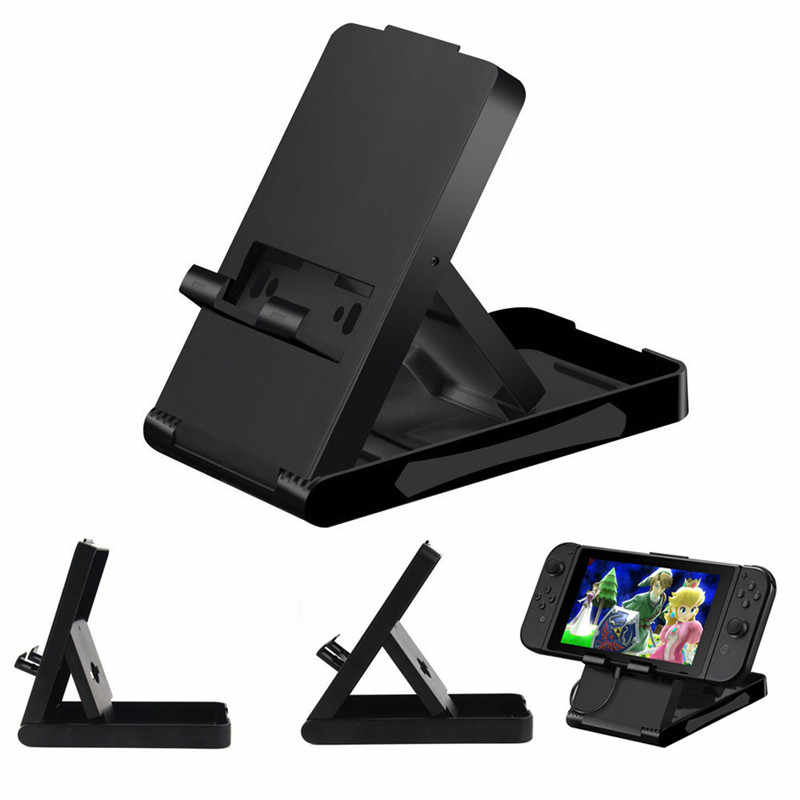 Portable Foldable ABS Compact Bracket Play Holder Desktop Stand For N-Switch Console Controller NS Accessories