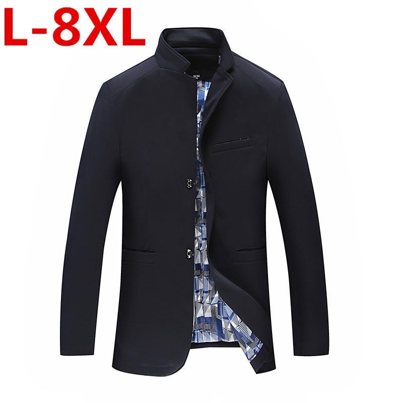 Spring-Autumn  Men's  Casual  Suit  Blazer  Slim Fit Men's Suit Jacket Casual Business Plus Size  6XL 5XL 4XLMen Coat Outerwear