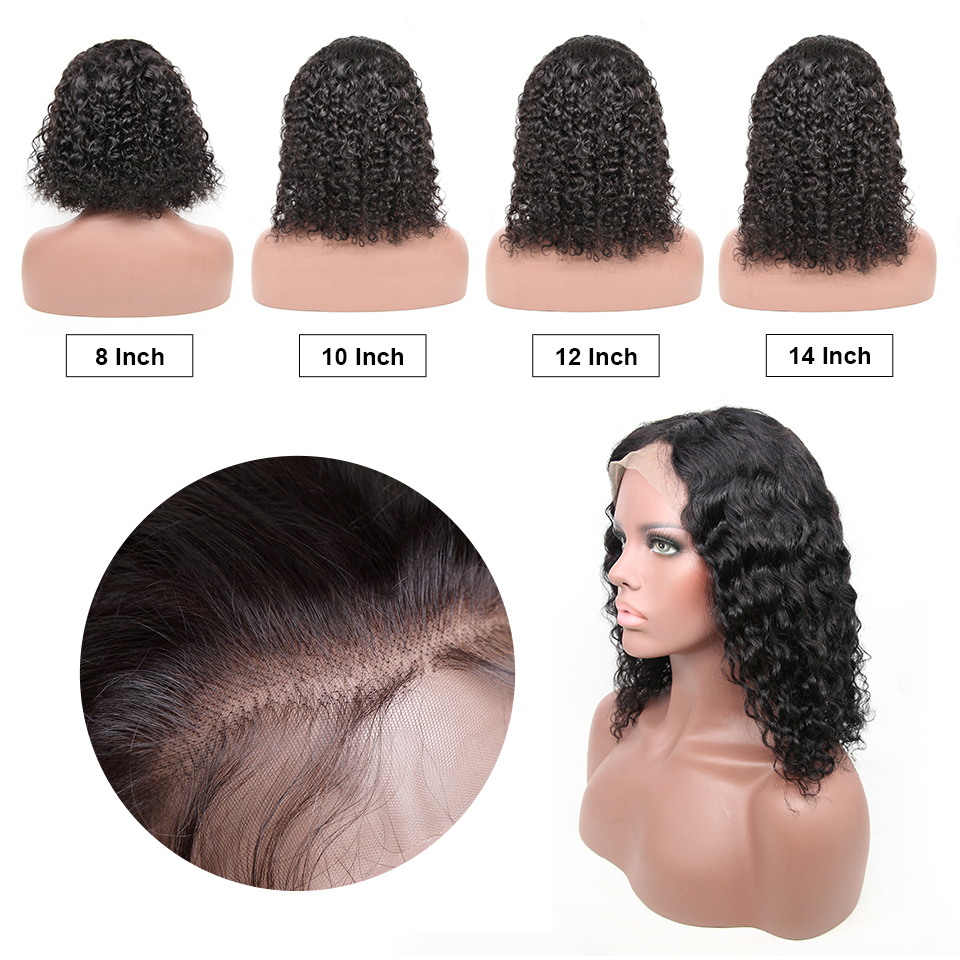 Hbd874caa2b58474bbcbc539c43dec672y Jerry Curly Lace Front Human Hair Wigs With Baby Hair Brazilian Remy Hair Short Curly Wigs For Women Pre-Plucked Wig