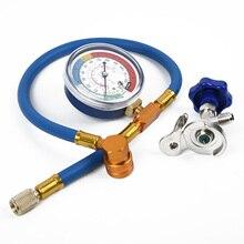 цена на Auto Air Conditioning Hose Refrigerant Recharge Gauge R134A R1 Accessories Parts