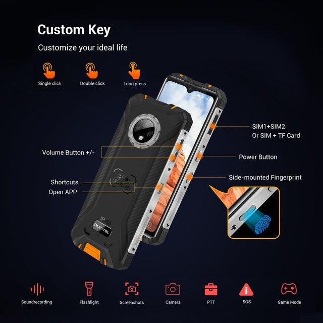 OUKITEL WP8 Pro Rugged 4G Smartphone 4GB 64GB 5000mAh Octa Core Mobile Phone NFC 16MP Triple Camera 6.49'' Android10 Smart Phone 3