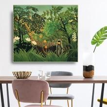 Citon henri · rousseau landscape paisagem exótica canvas pintura a óleo lona arte cartaz imagem decoração da parede moderna casa sala de estar decoração