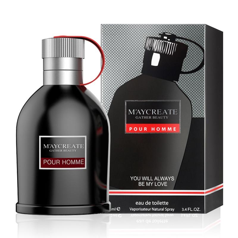 MayCreate Men Perfume Spray Fragrance 100ml Fashion Men's Deodorant Spray Bottle Male Eau Fraiche Long Lasting