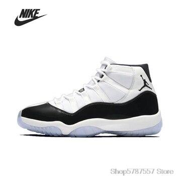 Orijinal Nike Air Jordan 11 Concord Erkek Basket Topu Ayakkabı Kadınlar Yüksek Top Rahat Spor Açık Ayakkabı 378037-100
