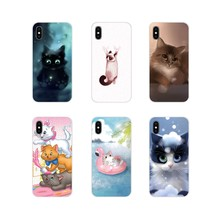 Accessories Phone Cases Covers For Oneplus 3T 5T 6T Nokia 2 3 5 6 8 9 230 3310 2.1 3.1 5.1 7 Plus 2017 2018 Cute Cartoon Cat(China)