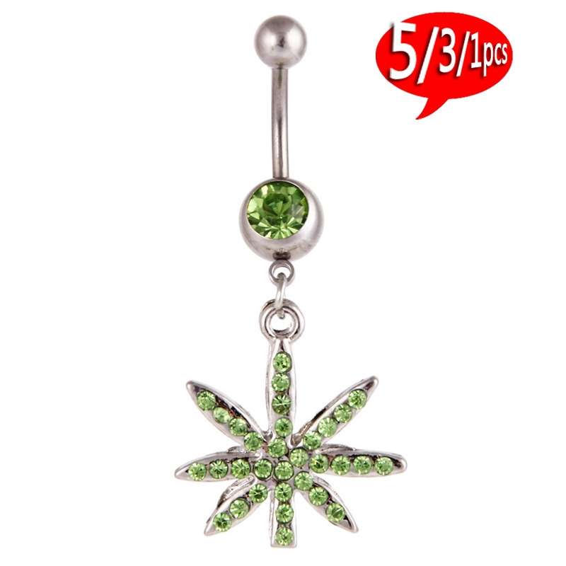 5/3/1pcs The Belly Button Ring That Sets Auger Leaf