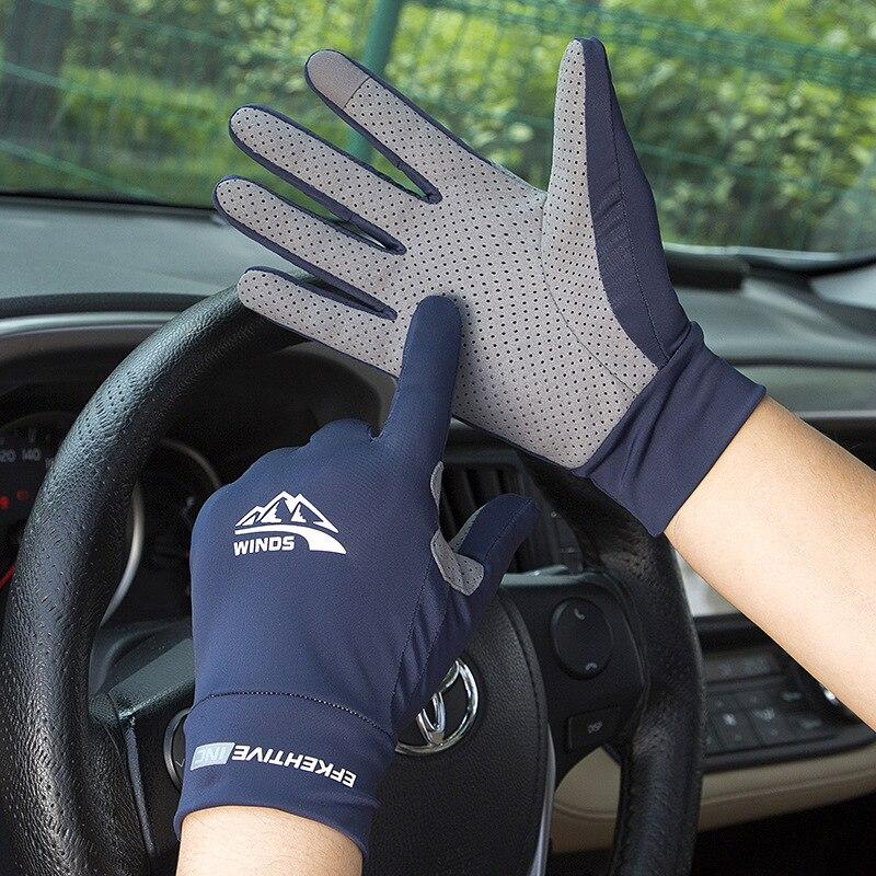 Ice Silk Light Gloves Summer Thin Men Sports Cycling Running Fitness Driving Outdoors Fishing Women Non-Slip Touch Screen Gloves