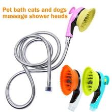 Haustier Hund Bad Sprayer Komfortable Gummi Massage Bad Dusche Kopf Hund Bad Shampoo Hundesalon Pinsel Reiniger Für Hunde Katzen