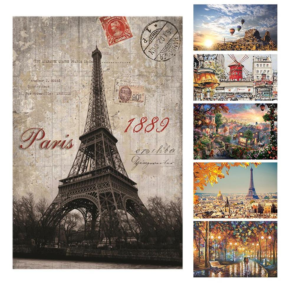 500 Pcs Kid Adult Puzzle Moulin Rouge Paris Street Jigsaw Educational Toys Gift