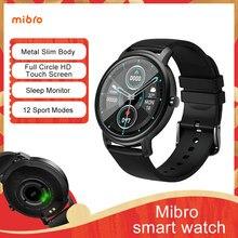 Relógio inteligente mibro ar esporte relógio bluetooth 5.0 ip68 à prova dip68 água monitor de sono fitness rastreador smartwatch para homem e mulher 2020