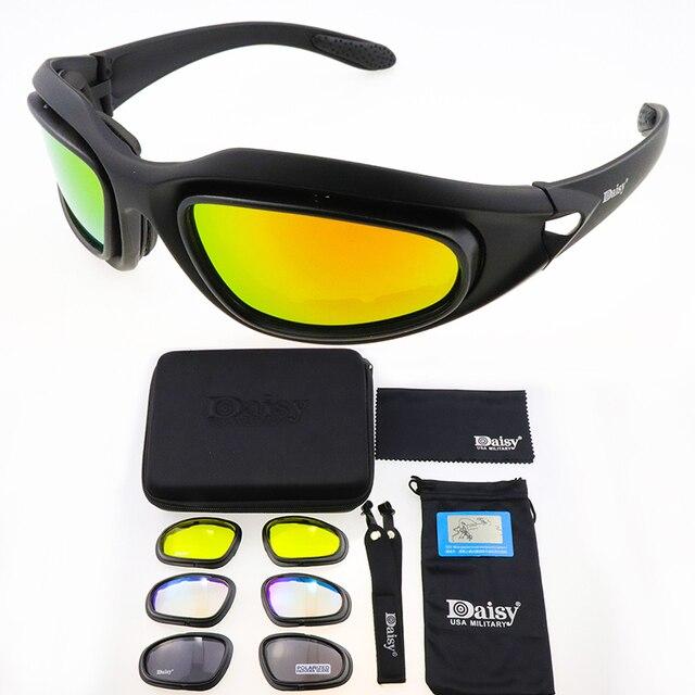 C5 polarizado óculos de proteção tático photochromic ciclismo uv400 airsoft óculos de segurança esportes ao ar livre óculos de sol 1