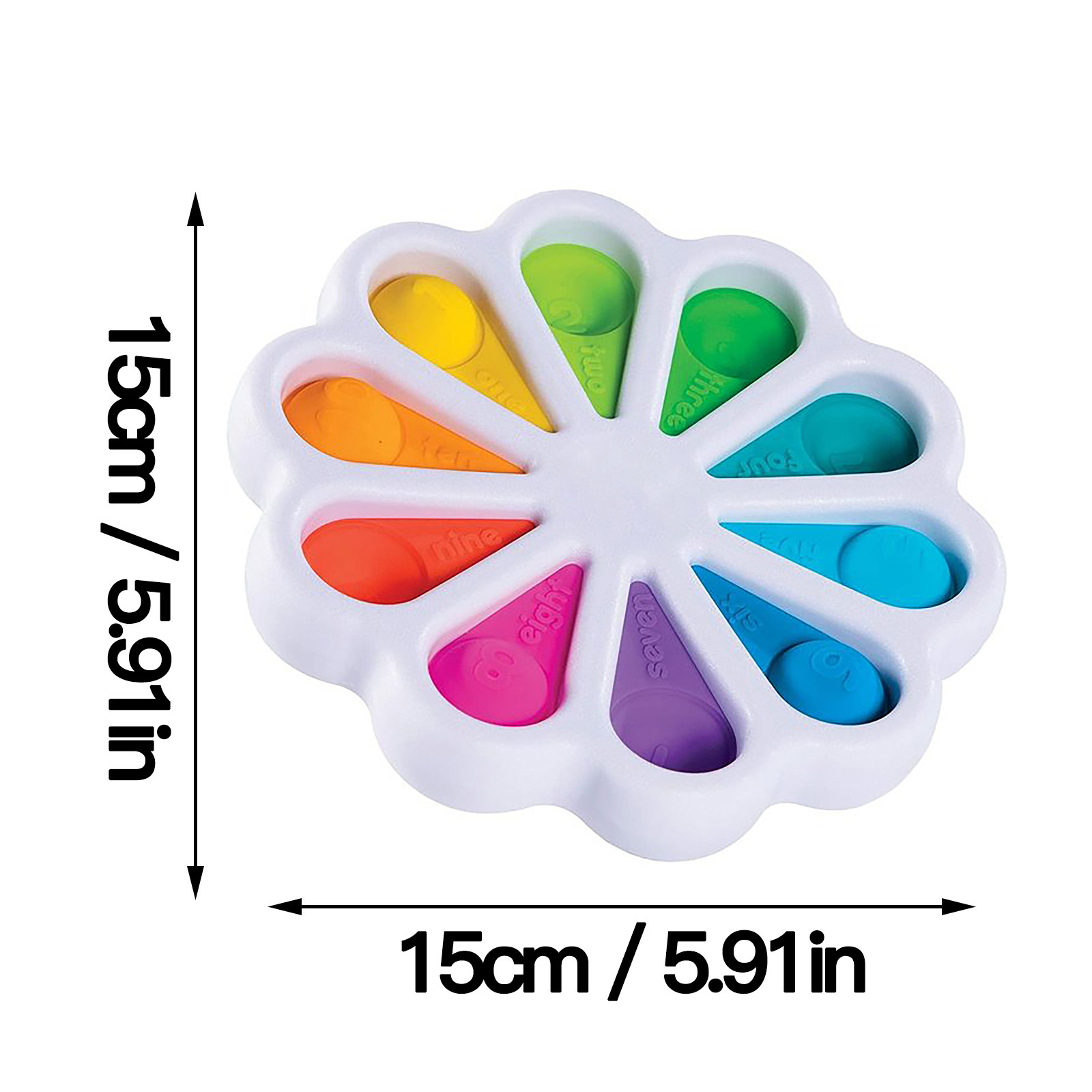 Toy Brain-Toy Hand-Fidget Simple Dimple Children Relief Anti-Stress Fat for 15x15cm-Petal img5