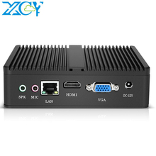 XCY Fanless Mini Pc Intel Pentium 4405U Core i7 Computer 6USB Gigabit Ethernet Win 10 Linux Thin Client Desktop Minipc micro Nuc
