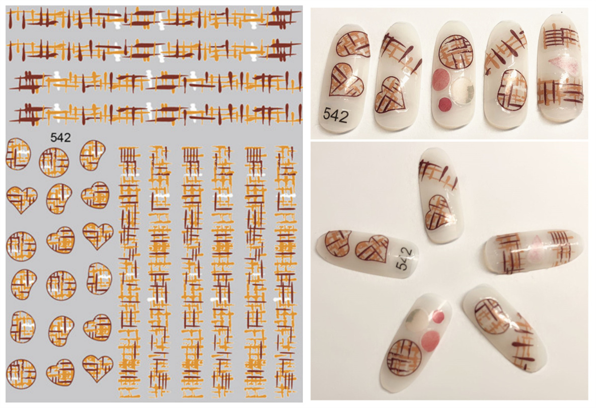505-591 Japanese Korean 3D New Style Nail Sticker South Korea Nail Stickers Nail Supplies