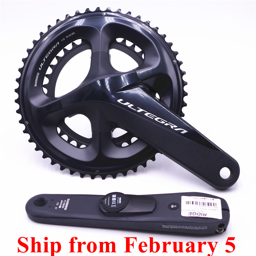 SHIMANO Ultegra R8000 Road <font><b>Bike</b></font> <font><b>Power</b></font> <font><b>Meter</b></font> Crankset Chain Wheel 170mm/172.5mm 50-34T 53-39T 52-36T image
