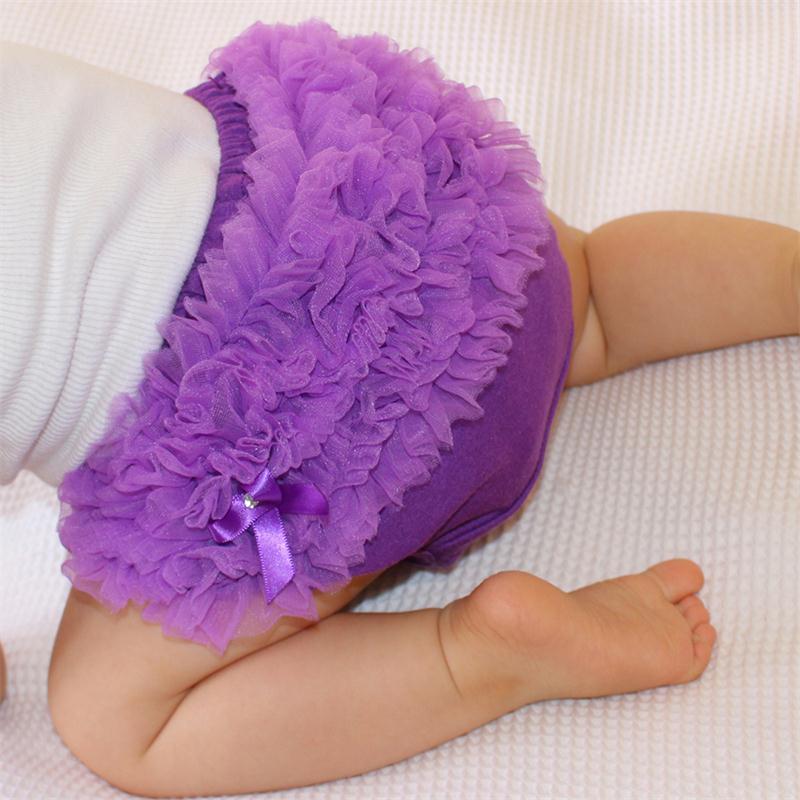 Детские хлопковые блумеры, 15 цветов, гофрированные трусики, детские подгузники для девочек, детские трусики-пачки, однотонные силиконовые т...