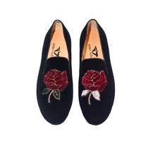 Jeder S New Big Size 6 14 velvet Men Shoes Fashion Pattern of roses Casual Slip On Wedding Dress Shoes Drop Shipping