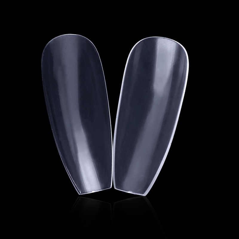 600 stücke Ballerina Platz Voller Abdeckung Falsche Nagel Kunst Tipps Französisch Ballett UV Gel Acryl Nägel Spitze Durchsichtigen Natürliche Salon gefälschte Nägel Set