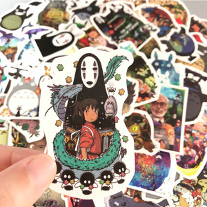 Image 3 - 50 Pcs/Lot Japanese Movie My Neighbor Totoro Cute Stationery Stickers for Car Laptop Notebook Luggage Decal Fridge Skateboard