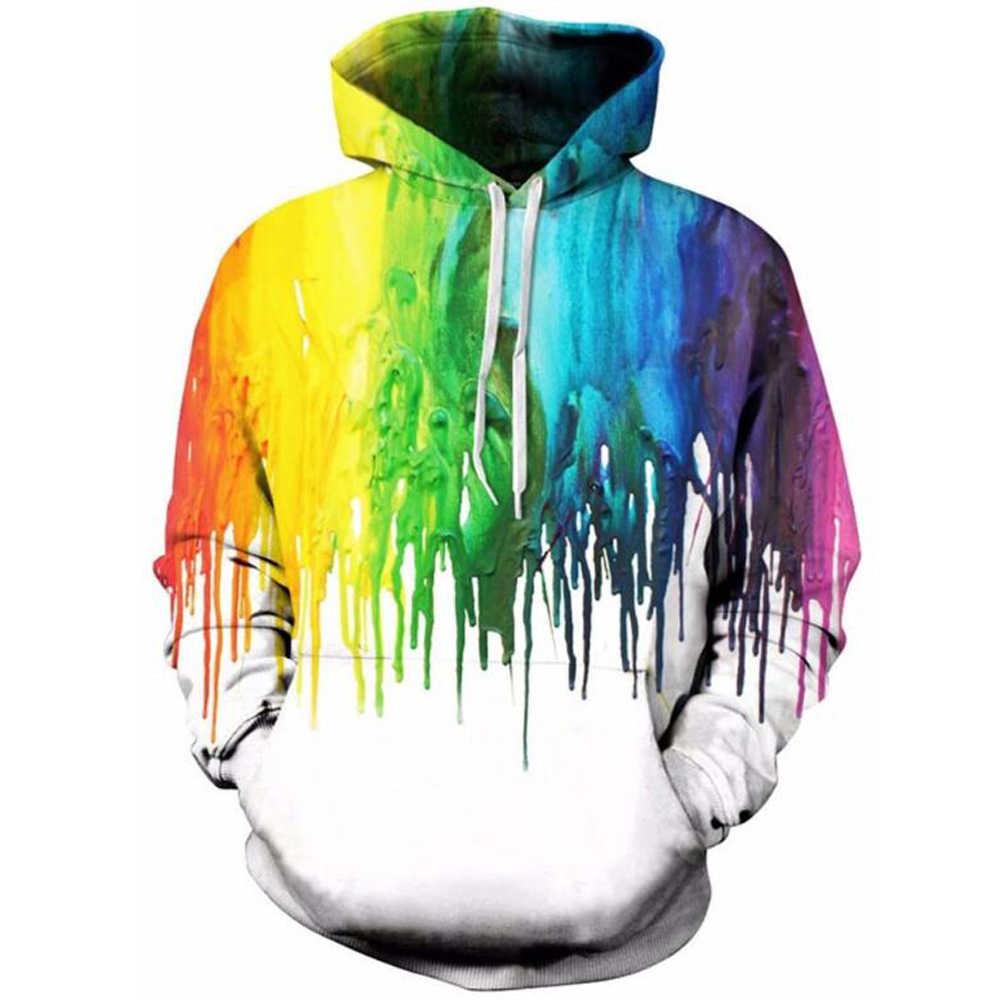 Boy Girl 3D Print Paint Drip Hoodie Sweatshirt Pullover Coat Jacket Unisex