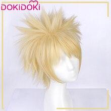 DokiDoki Anime Cosplay Wig My Hero Academia Bakugou Katsuki Hair Men Golden Short Boku No