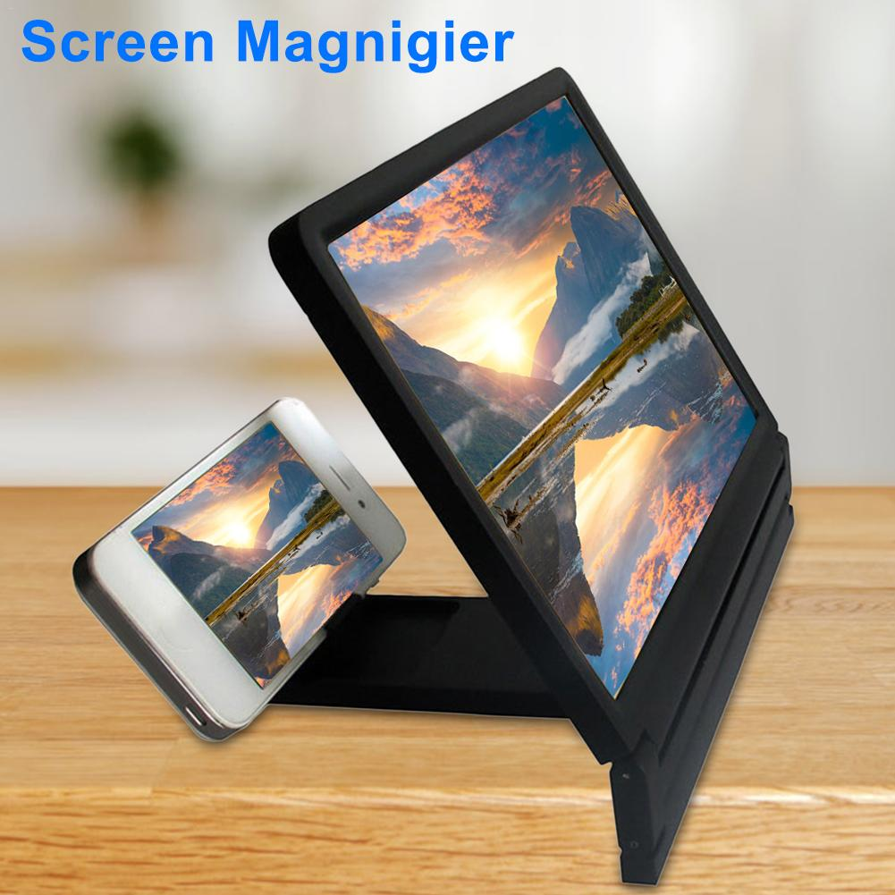 8.2 Inch Mobile Phone Screen Magnifier Eyes Protection Display 3D Video Screen Amplifier Folding Enlarged Expander Phone Stand