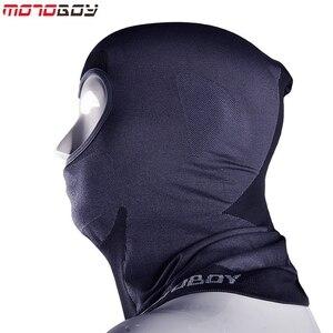 Image 4 - MOTOBOY Balaclava Masker Motorfiets Gezicht Schild Winddicht Fietsen Bike Ski Neck Beschermen Outdoor Moto Volgelaatsmasker