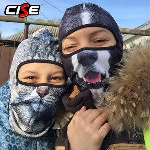 Image 3 - Balaclava Motorcycle Full Face Mask 3D Animal Cat Dog Hats Helmet Windproof Breathable Paintball Snowboard Cycling Ski Men Women