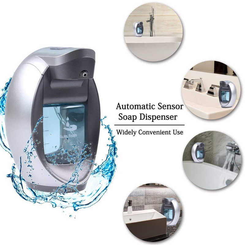 Automatic Soap Dispenser 480ML Touchless Waterproof Hand Free Motion Sensor Auto Liquid Soap Dispensers Shampoo Holder