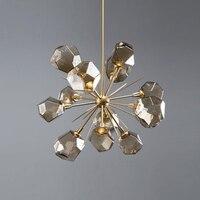 성격 지점 유형 유리 예술 샹들리에 연속 시스템 빛 고급스러운 거실 레스토랑 침실 연구 램프