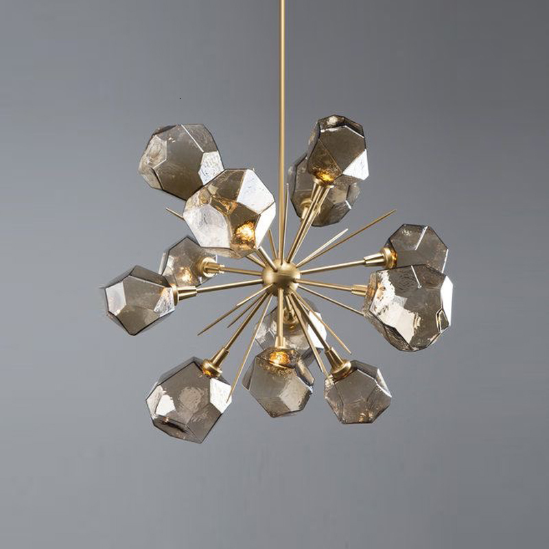 Personality Branch Type Glass Arts A Chandelier Continuous System Light Luxurious A Living Room Restaurant Bedroom Study Lamp