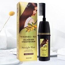 Mokeru 200ml Easy Using Smooth Argan oil Hair Straightening Nourishing Straight Hair Cream for woman Haircare Relaxer Cream
