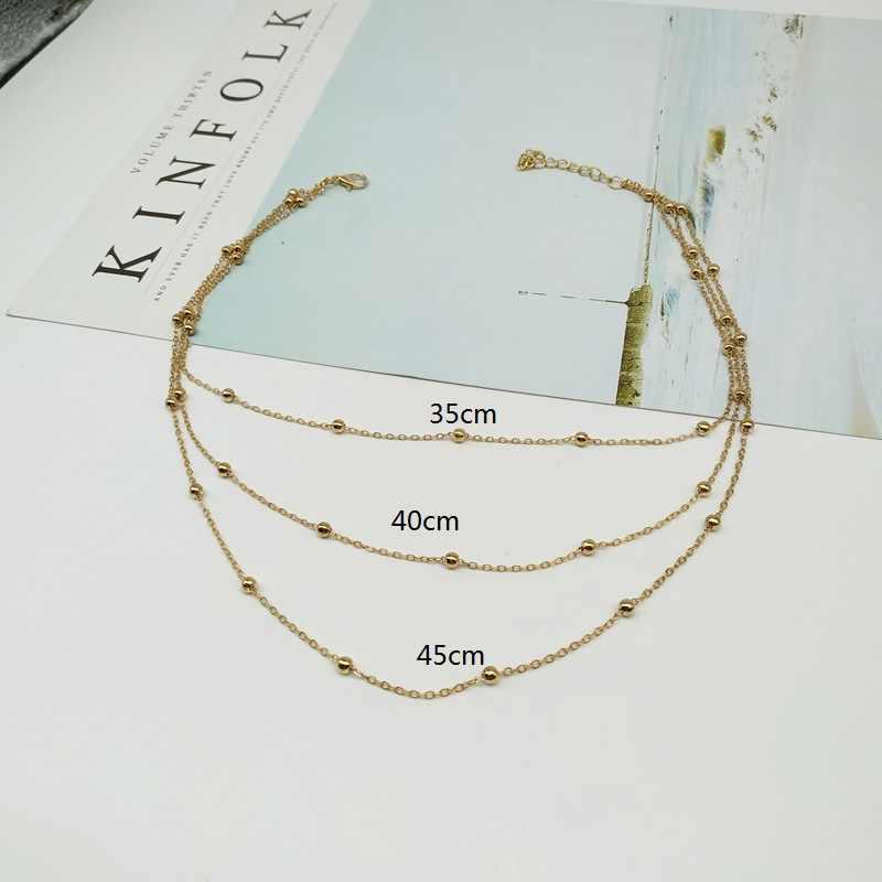 Năm 2019 Thời Trang Mới Đa lớp Vòng đeo cổ cho Nữ Vàng Bạc Màu hạt Thiết kế dây chuyền vòng cổ Bohemian Vintage Cổ Trang Sức
