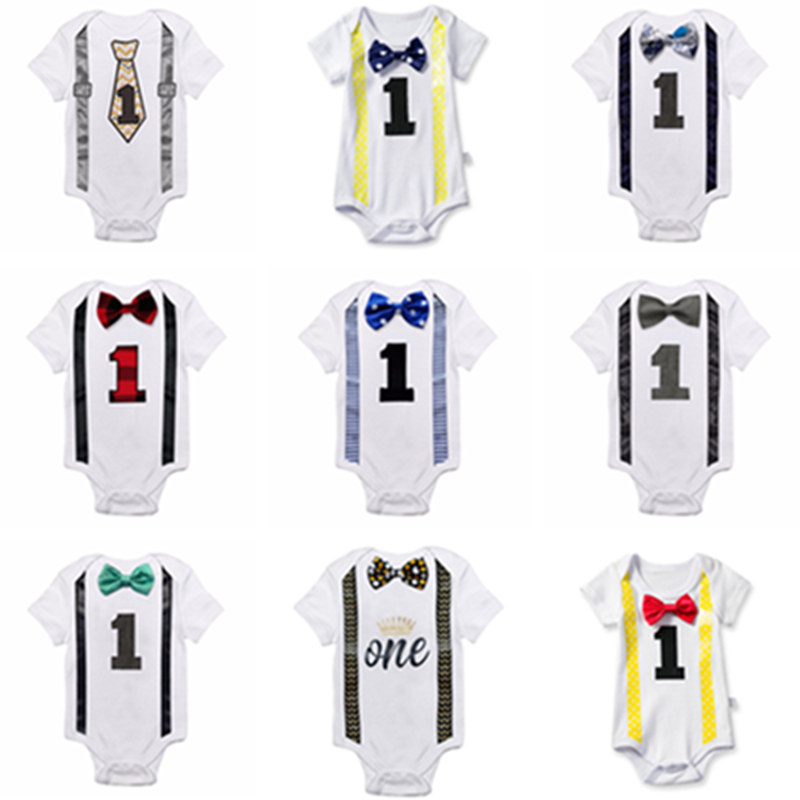 Baby Clothing Cheap Newborn Clothes Outfit Infant Baby Boy Summer Clothes 12 months Beby Jumper Romper Print First Birthday Wear
