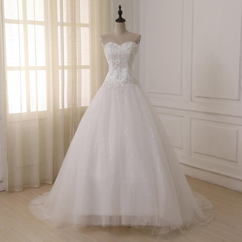 Jiayigong Ball Gown Corset Wedding Dresses Vestidos de Novia Sleeveless Sweetheart Sequin Tulle Long Bride Dress Plus Size