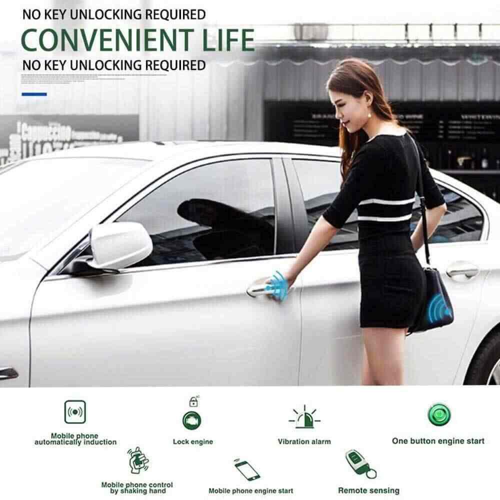 Dostęp bezkluczykowy system zdalnego uruchamiania Smartphone ręczna skrzynia biegów PKE APP system alarmowy samochodu silnik samochodowy centralny zamek do otwierania pokrywy bagażnika