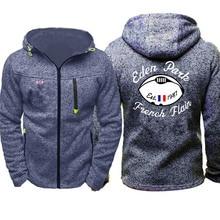 2021 New hoodie men's fashion personality zipper sweatshirt men's printed hooded sportswear hip-hop autumn hoodie men's