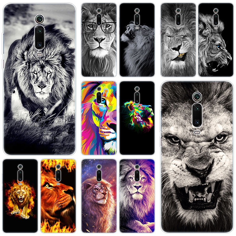Hot King of animals <font><b>lion</b></font> Silicone <font><b>Case</b></font> for <font><b>Xiaomi</b></font> <font><b>Mi</b></font> 9T Pro CC9E 9 9SE 8 A3 A2 Lite <font><b>A1</b></font> 5X 6X Mix 3 2S Play Pocophone F1 Cover image