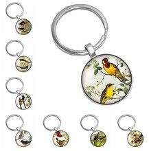 2019 New Hot Super Beautiful Romantic Bird Pattern Series Glass Cabochon Keychain Popular Jewelry Gift цена