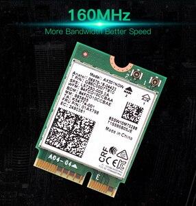 Image 5 - 2.4 5gbpsのデュアルバンドのwi fi 6 AX201ワイヤレスアダプタbluetooth 5.0インテルAX201 AX201NGW ngff鍵e M.2 802.11ax CNVIO2無線lanカード