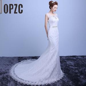 Image 1 - Fashion Elegant Sweetheart Lace Wedding Dress 2020 for Wedding Bride Mermaid Dresses Vestidos De Baratos Wedding Gowns